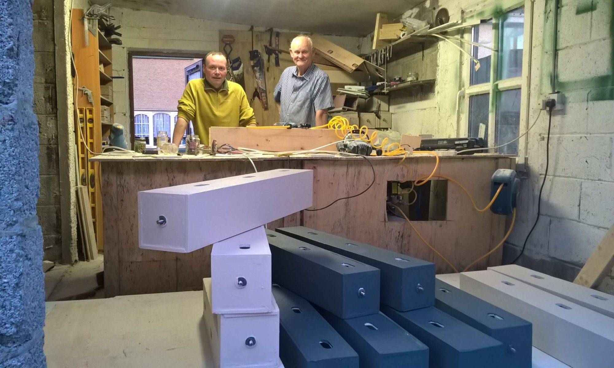 Stephan de Beer in his Workshop with Paddy Sheridan from Wild Kildare