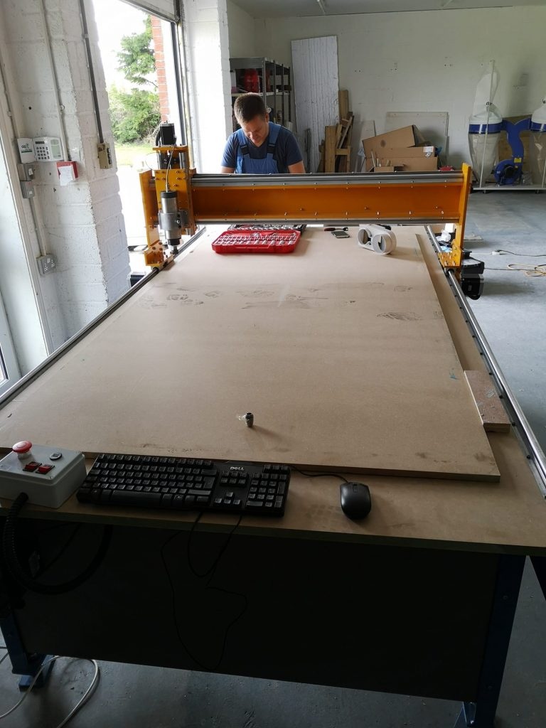 Our new CNC router for cutting Genesis Nest Box Materials (MgO Board)
