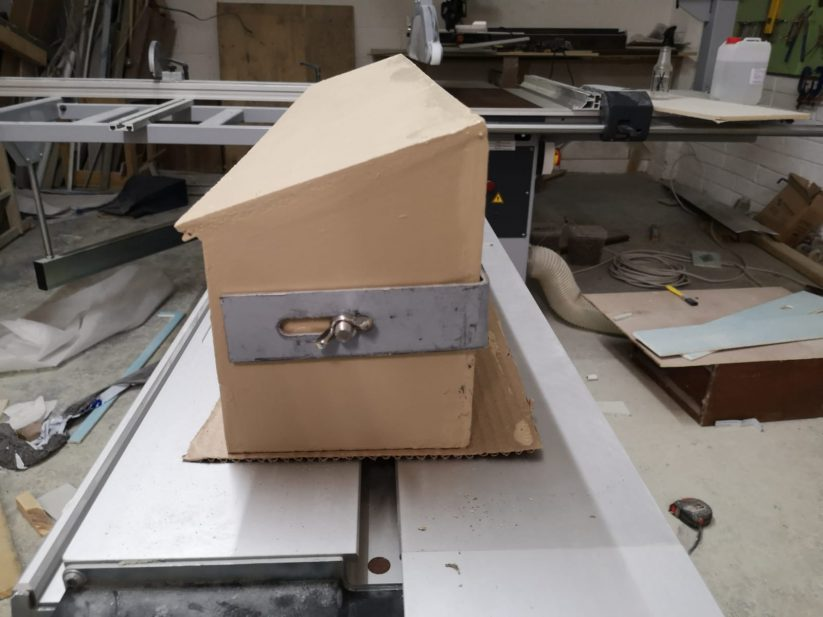 Side view of new Genesis anti-predator swift nest box.